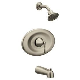 Moen Eva Brushed Nickel 1 Handle Bathtub And Shower Faucet With