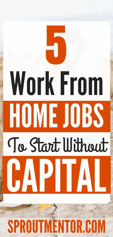15 Legitimate Work From Home Jobs With no Startup Fees   SproutMentor