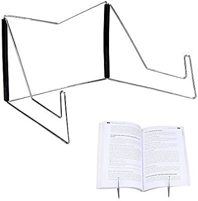 White Adjustable Portable Book Stand Book Holder Reading Rest Cookbook Bookrest for Reading Cooking Book Document with Foldable