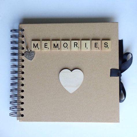 Memories album Wedding Gift idea Keepsake scrapbook