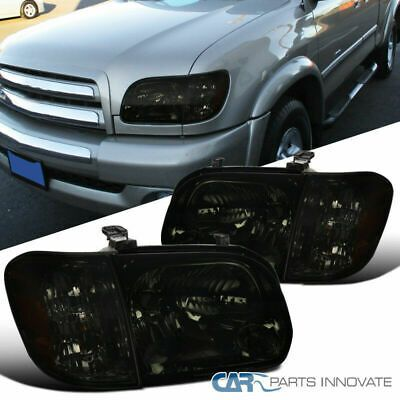For 05 06 Toyota Tundra Double Cab 05 07 Sequoia Smoke Headlights Corner Lamps Toyota Tundra Toyota Cab