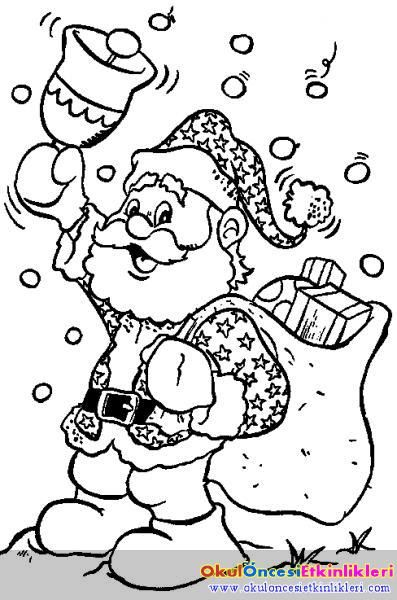 Noel Baba Jpg Boyama Kitaplari Boyama Sayfalari Cizim Fikirleri