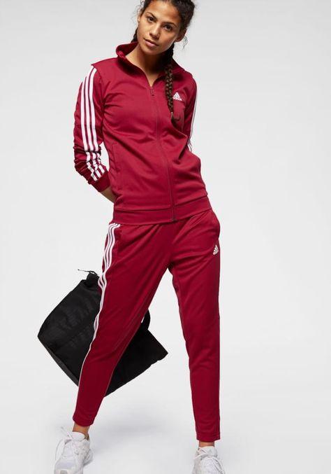ADIDAS PERFORMANCE Trainingsanzug Damen, Rot / Weiß, Größe ...