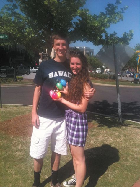 Jake Pearson asked his girlfriend Natalie Zink to prom using an Easter egg scavenger hunt.