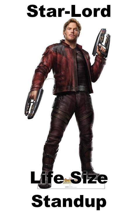 Star-Lord Life Size Standup (Cardboard Cutout) from the 2018 superhero film Marvel's Avengers: Infinity War, inches, by Advanced Graphics