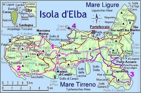 Cartina Elba.Isola D Elba Cartina Cerca Con Google Arcipelago Isola D Elba