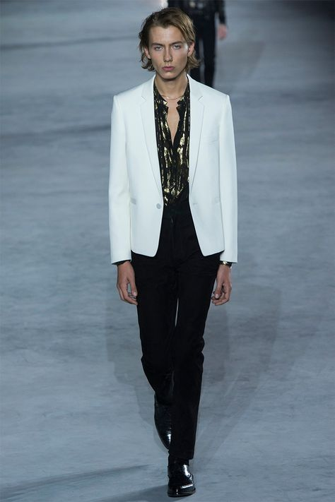 ffdeb4f54304 Anthony Vaccarello unveiled his Spring Summer 2018 collection for Saint  Laurent during Paris Fashion Week.