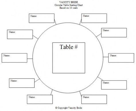 Circular Table Chart For  Guests  Weddings And Such