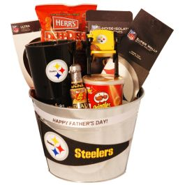 Pittsburgh Steelers Fathers Day Gift Basket $84.99 | Gifts for ...