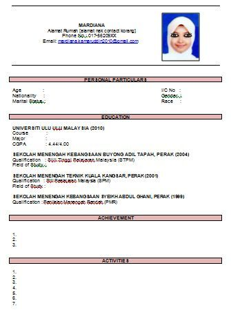 curriculum vitae cv resume samples resume format stuff to