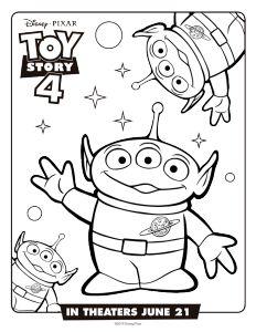 Marcianitos Toy Story 4 Dibujos Para Imprimir Y Pintar Con