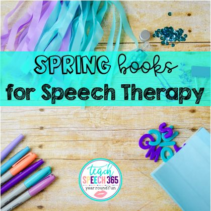 Spring Books for Speech Therapy