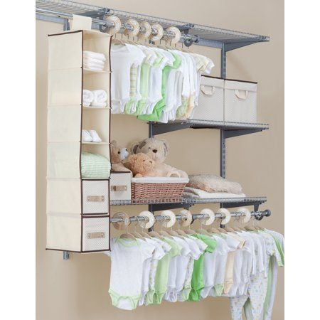 Beige Delta Children Complete Nursery Organization 3-Piece Set