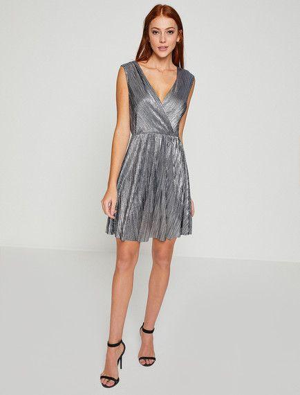 Koton Abiye Elbise Modelleri Siyah Kisa Uzun Kollu V Yaka Desenli Elbise Modelleri Elbise The Dress