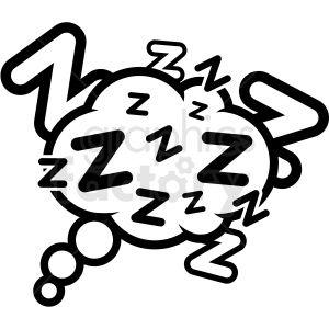 Dream Icon Vector Sleep Vector Clipart Icons Graphics Dream Art Artwork Images Planner Pl Clip Art Adobe Illustrator Vector Clipart Black And White