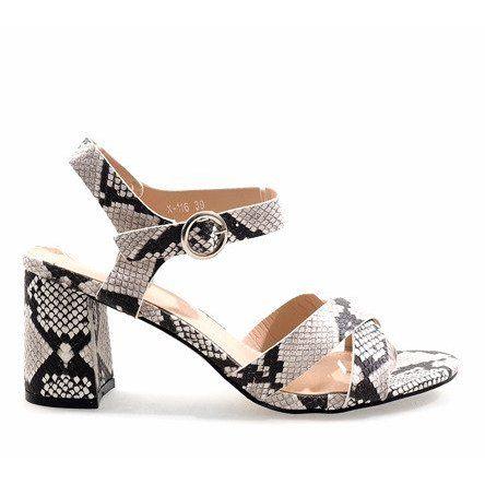 Sandaly Damskie Butymodne Wezowe Sandaly Na Slupku Zamsz X 116 Womens Sandals Heels Women Shoes