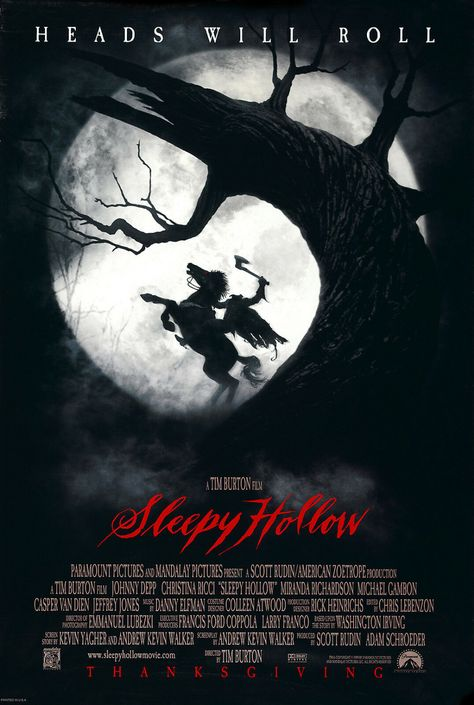 SLEEPY HOLLOW Movie Poster 1999
