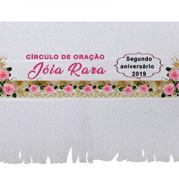 Toalhinha Personalizada Com Frase Circulo De Oracao Com Imagens
