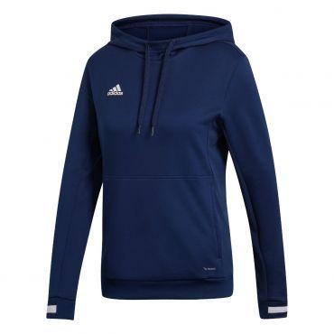 adidas Team19 Hoody trui dames navy blue white - Hoodie ...
