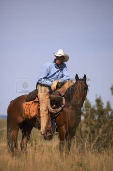 cowboy WESTERN: Cow-boy et cheval