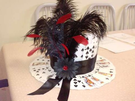 DIY Hat PERFECT for a centerpiece to game table with the card garland im making.