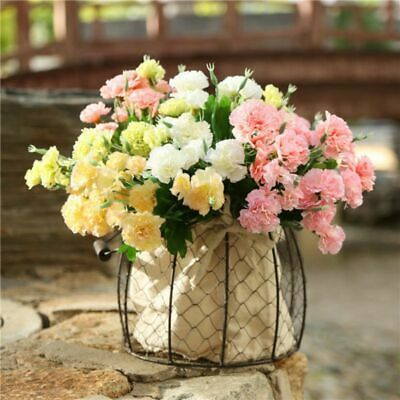 10 Heads Artificial Silk Flowers Wedding Bouquets Fake Floral Plants Home Decor Artificial Silk Flowers Silk Flowers Wedding Silk Flower Wedding Bouquet