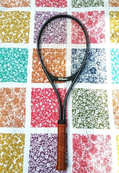 Wilson Apt Mid Vintage Tennis Racquet 80s Grip Size 4 1 4 Original Grip By Fchoicevintage On Etsy Vintage Tennis Tennis Racquet Tennis