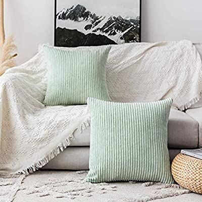 Amazon Com Home Brilliant Decorative Pillow Covers Couch Throw Pillows Sets Of 2 Stripe In 2020 Large Pillow Covers Decorative Pillow Covers Couch Couch Throw Pillows
