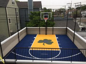 Rooftop Basketball Courts In Chicago Il Supreme Sports Courts Sport Court Home Basketball Court Backyard Sports