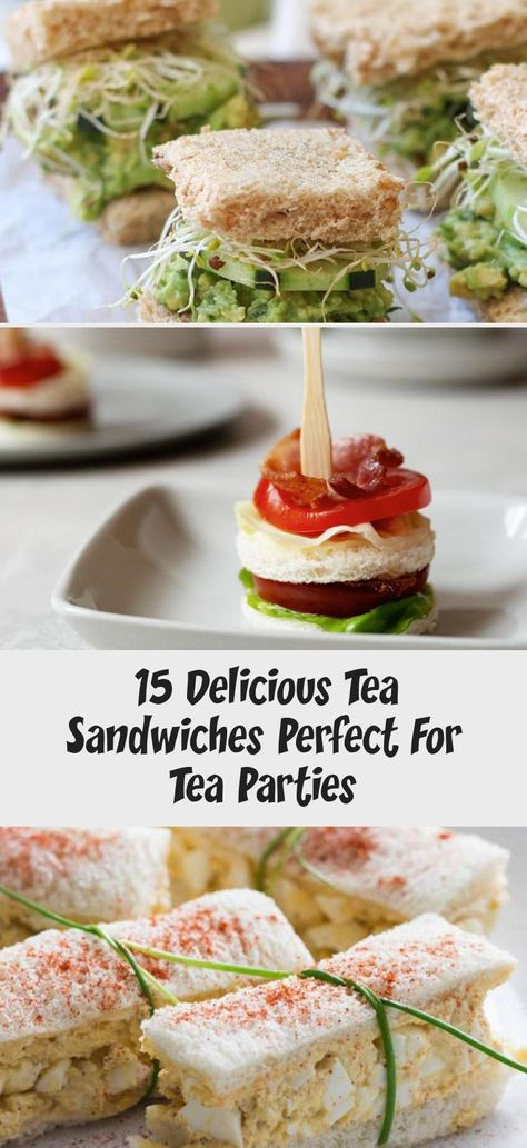 Looking for tea sandwich recipes for your next tea party? If youre looking for finger sandwiches that are adorable and tasty, Ive got them right here! #teasandwiches #fingersandwiches #fingerfood #appetizers #teaparty #FoodandDrinkWallpaper #FoodandDrinkAppetizers #SummerFoodandDrink #FoodandDrinkPictures #FoodandDrinkCasseroles