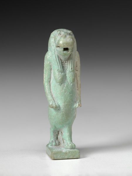 Property Of The Virginia Museum Of Fine Arts Amulet Of The God Taurt 2085 332 Bc Unknown Artist Faience Museum Of Fine Arts Lion Sculpture Art