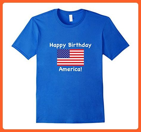 Mens Happy Birthday America Men And Youth Fourth Of July Shirt XL Royal Blue