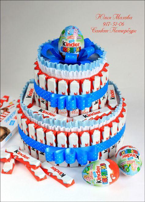 Gallery.ru / Торт из киндер-шоколада - Киндерторты торты из барни и соков и киндер-сюрпризов - MamaYulia