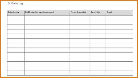 Prince2 Daily Log Template Prince2 Templates Excel Templates