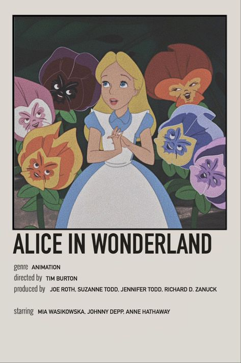 alice in wonderland minimalist movie polaroid