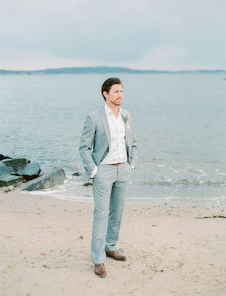 Demure Beach Wedding