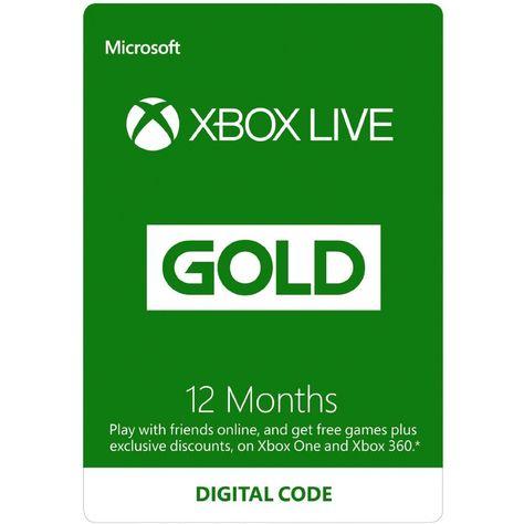 Xbox Live Gold 12 Month Membership Eu Xbox Live Xbox Gift Card Xbox Gifts