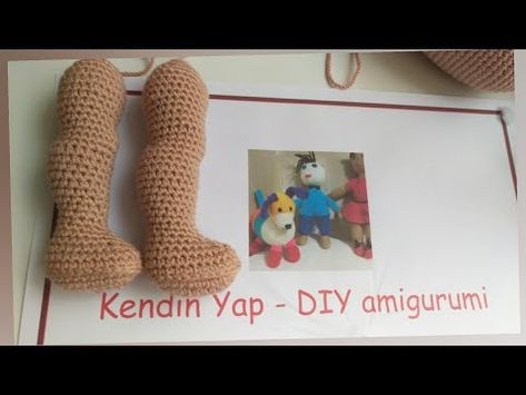 Amigurumi (1.Bölüm) 50cm Zeynep bebek taban ve patik örülüşü - YouTube | 355x473