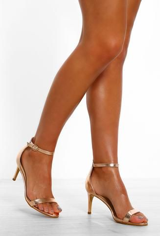Party Gal Rose Gold Barely There Kitten Heels 3 Stiletto Heels Heels Fashion Heels