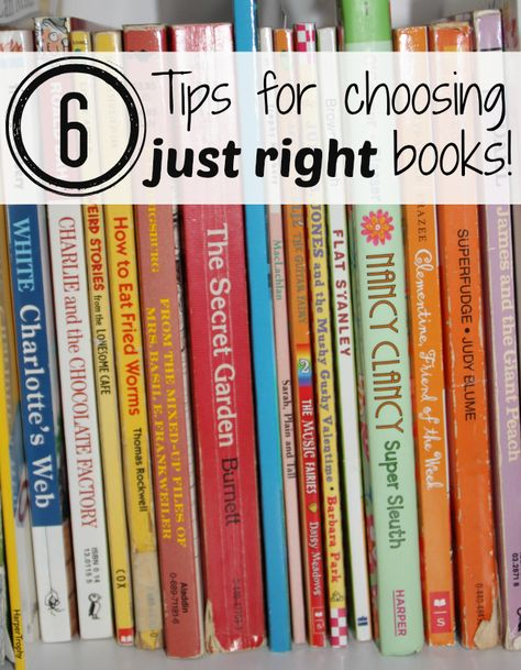 """Finding a """"Just Right"""" book"""
