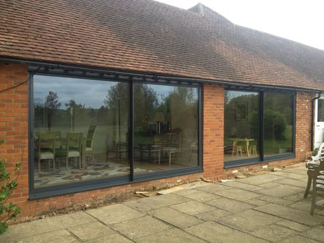 Extra Large Sliding Glass Doors with 14mm Aluminium Frames