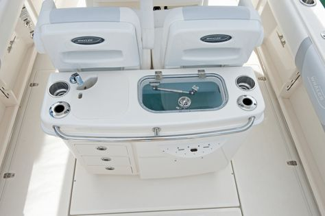 Boston Whaler 250 Outrage: Here's the business end of the boat and