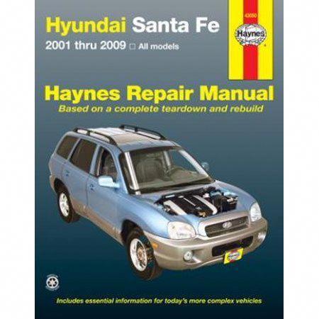 Haynes Manuals 43050 Hyundai Sante Fe 2001 2006 Multicolor Hyundai Santa Fe Repair Manuals Repair