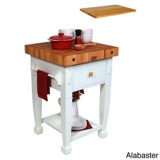 john boos 24x24 jasmine butcher block with bonus cutting board