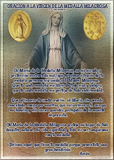 Oración A La Virgen De La Medalla Milagrosa Libro De Oraciones Oraciones Milagroso