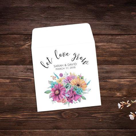 Elegant Wedding Wedding Favors Let Love Grow #seedpackets #seedfavors #weddingfavors #weddingseedfavor #weddingseedpackets #seedpacket #weddingfavor #seedfavor #seedpacketenvelope #seedpacketfavor #flowerseeds #floralwedding #elegantwedding