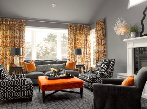 Pin By Jett Goboy On For The Home Living Room Orange Grey And Orange Living Room Living Room Grey