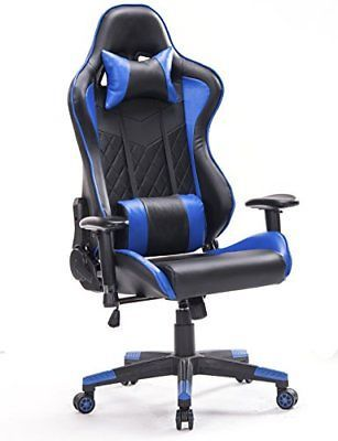 Top Gamer Pc Gaming Chair Video Game Chairs For Computer Game Blue Black Gaming Chair Pc Gaming Chair Comfy Chairs