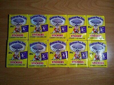 Ebay Sponsored 1986 Topps Garbage Pail Kids 4th Series 4 Lot Of 10 Packs Rare No Price Purple In 2020 Garbage Pail Kids Pail 10 Things