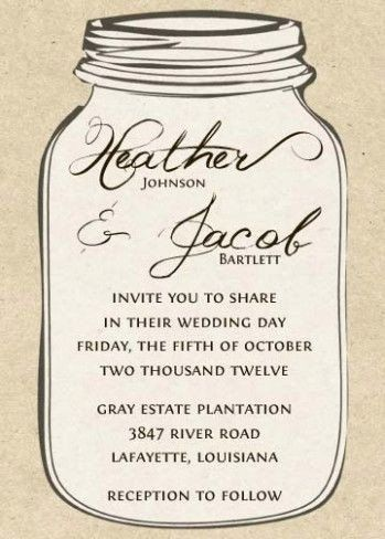 20 Mason Jar Wedding Invitation Templates In 2020 Mason Jar Wedding Invitations Mason Jar Wedding Invitations Template Wedding Invitation Card Design